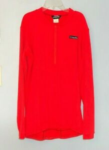 Cannondale 3 Quarter Zip Long Sleeve Cycling Shirt Jersey Men's 2XL RED