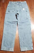Men's Eddie Bauer Distressed Medium Blue Denim Jeans Distressed* 31x32 B824