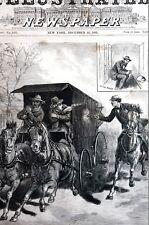 Assassination Attempt GUITEAU in PRISON VAN GUN FIGHT 1881 Antique Print Matted