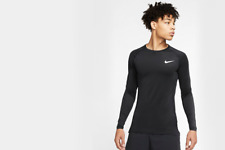 Nike Pro Men's Tight Fit Long Sleeve Athletic Compression T-shirts - BV5588-010