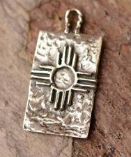 Zia Symbol // Zia Sun Charm // Sterling Silver Zia Cross // R-718