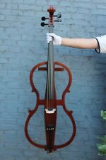 4/4 Electric Cello Silent PU Powerful Sound Ebony Part yinfente Brown Color#EC1