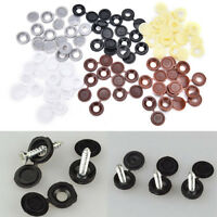 10x Hinged Plastic Screw Covers Fold Snap Caps For Cars Home Furniture Decors ar