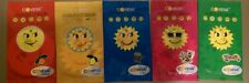 5 X ASSORTED COVEVA SMILEY SUN HANGING CAR VALET AIR FRESHENERS Free P&P