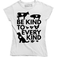 Be Kind To Every Kind Vegan Vegetarian Tee Love For The Animals Women's T-Shirt