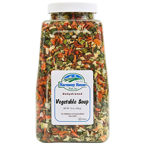 Harmony House Premium Vegetable Soup Mix - Dehydrated Vegetables for Cooking, 12
