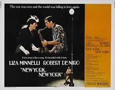 NEW YORK NEW YORK Movie POSTER 22x28 Half Sheet Robert De Niro Liza Minnelli