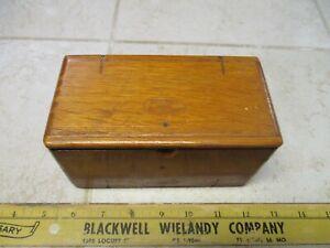 VTG Antique Singer Sewing Machine Attachments Accessories Wood Puzzle Box 1889