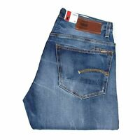 25652 G-Star Neu 3301 Straight Blau Herren Jeans IN Größe 32/34