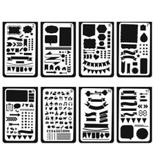 12X/Set Bullet Journal Stencil Plastic Stencils Journal/Notebook/Diary/Scrapbook
