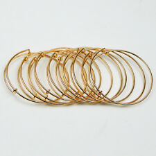 BULK LOT 10pcs Expandable Gold Bangle Bracelet Wire Wrapped Adjustable