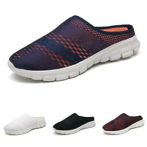 Mens Slingbacks Flats Breathable Comfy Summer Moccasins Loafers Slippers Shoes B