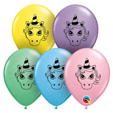 """UNICORN PARTY SUPPLIES 50 X 5"""" QUALATEX ASSORTED COLOUR MODELLING BALLOONS"""