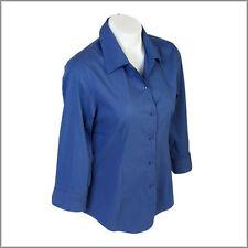 Nylon Career Long Sleeve Button Down Shirt Tops & Blouses for Women