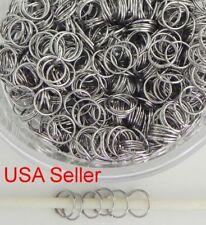 500 Jump Rings Double Loop Split Rings Stainless Steel Jewelry Making  8 mm D019
