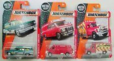 Matchbox Ambulance EMT Truck Chevy Ford F-350 '63 Cadillac Car Lot