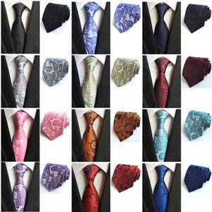Men's Tuxedo Paisley Print Wide 8.5CM Necktie Wedding Party Formal Tie HZ0320