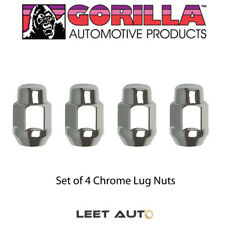 (4pc.) Gorilla Chrome Lug Nuts, 12x1.25, Bulge Acorn Seat, 12mm x 1.25 91128