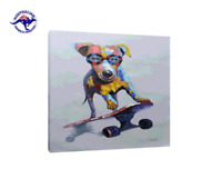 'Funky Dog' Beautiful Animal Oil Painting on Canvas - New Private Collection