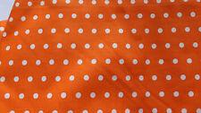 Stoffpaket 1m Stoff Baumwolle Stoffrest Patchwork Orang/Punkte Nähen Vintage NEU