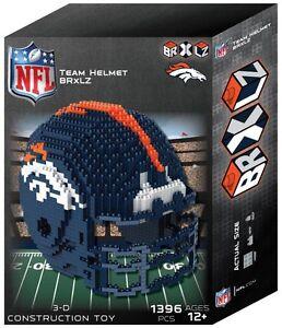 Denver Broncos BRXLZ Team Helmet 3-D Puzzle Construction Toy New - 1394 Pieces