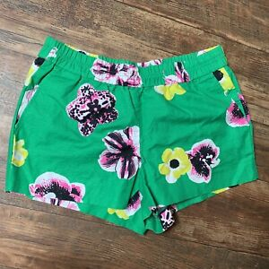 J.Crew Size 8 Short Floral Green Pink Yellow Shorts