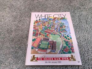 1990 Holden NSW Open Tournament of Champions Tennis Program White City