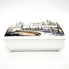"""Fantastic Russian lacquer box """"Moscow Kremlin"""" architecture Hand Painted #9"""