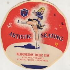 Vintage Meadowbrook Roller Rink, Artistic Skating, Rutland, VT. Sticker