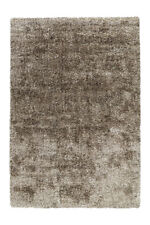 Arte Espina Shaggy Hochflor Teppich Uni Wohnzimmer Beige Taupe Grau 160x230cm