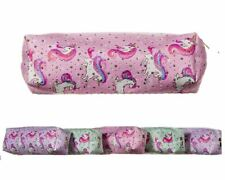 Unicorn Pencil Case Barrel Pink Girls Cosmetic Bag School Uni Travel Stationery