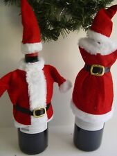 MR. AND MRS. SANTA WINE/LIQUOR GIFT COVERS NEW ONE OF EACH!