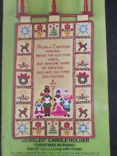 Bucilla Jeweled Candle Holder Christmas Morning Vintage Kit 3412 Wall Hanging K1