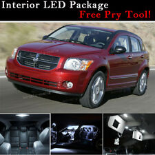 8X 6000K White LED Interior Light Package KIT For Dodge Caliber 2007 - 2012 J2