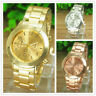 Luxury Crystal Womens Mens Watch Stainless Steel Band Quartz Wrist Watch Cheap H