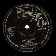 FOUR TOPS Simple Game Vinyl 7 Inch Tamla Motown TMG 785 1971