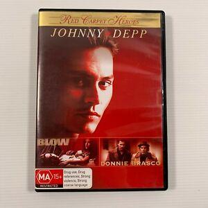 Blow and Donnie Brasco (DVD 2 disc 2008) 2 Johnny Depp movies - Region4