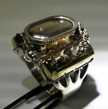 Hemi with Dual Quads and Oval air breather Mens Engine Ring Jewelry  Size 11.5