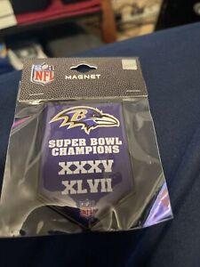 Baltimore Ravens 2X Superbowl Banner Magnet