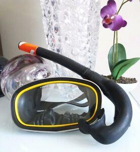 US Divers Co Vintage Atlantis Full thermal temper Scuba Diving Goggles W-Snorkle
