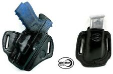 For Glock21OWB Shield Holster and Single Dbl Stack 45 MagHolder Combo R/H Black