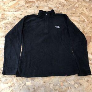 Womens 1/4 Zip Fleece S Small The North Face Black B6057