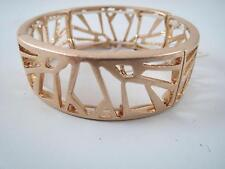 Kenneth Cole matte gold tone cutout stretch bracelet, NWT