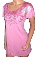 GLÖÖCKLER Shirt Longshirt Pailletten Tunikashirt rosa Gr. 38 40 42 44 NEU - S23