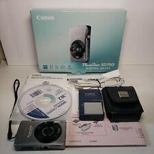 Canon PowerShot Digital ELPH SD750/Digital IXUS 75 7.1MP Digital Camera - Silver