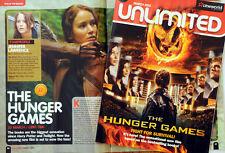 ORIGINAL 2012 THE HUNGER GAMES CINEMA MAGAZINE JENNIFER LAWRENCE JOSH HUTCHERSON