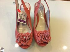 REPORT NEW WOMENS ROGERS ORANGE CANVAS WEDGE SANDAL SIZE 8.5 $29.00