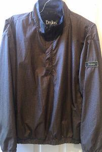 Footjoy Dryjoys Mens 1/4 Zip Snap Button Windbreaker Rain Jacket Houndstooth M