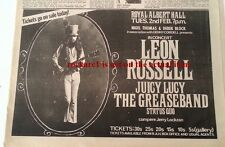 Leon Russell  GREASEBAND Albert Hall 1971 UK Press ADVERT 12x8 inches