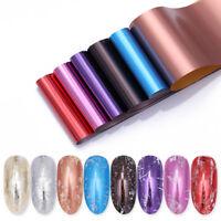 8 Colors/Kit Nail Foil Transfer Stickers Mirror Effect Nail Art Starry Foils